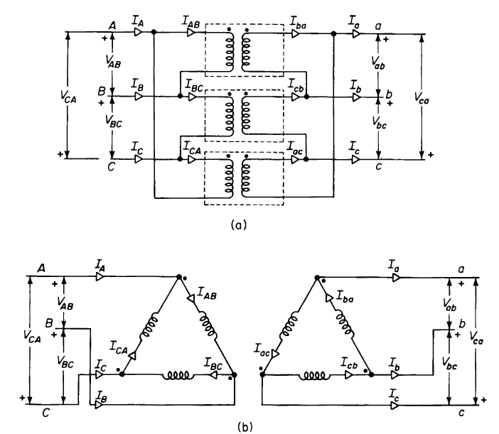 Open Delta Transformer Connection http://www.vias.org/matsch_capmag/matsch_caps_magnetics_chap6_12_02.html