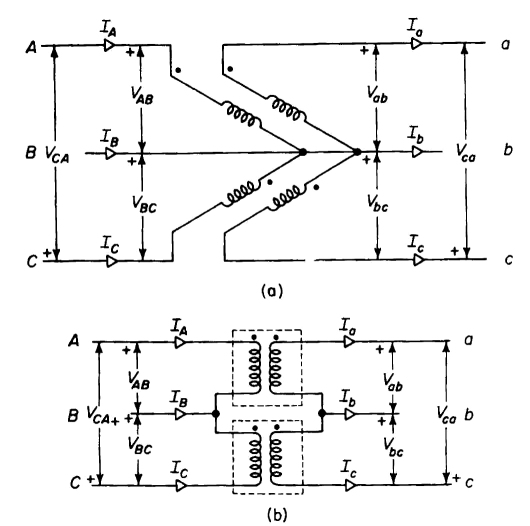 Open Delta Transformer Connection http://www.vias.org/matsch_capmag/matsch_caps_magnetics_chap6_12_05.html